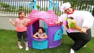 Masal and Elif Öykü Ice Cream Truck Pretend Play with Ice Cream fun kid video