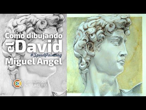 Como Dibujando el Busto del David de Miguel Angel