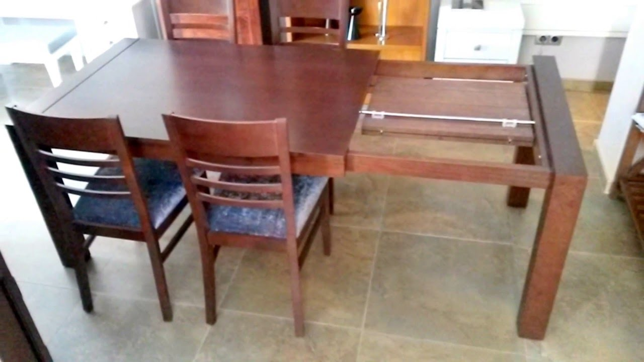 Mesa de comedor extensible madera pino youtube - Mesa de comedor plegable a la pared ...