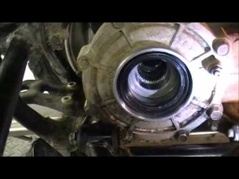 kawasaki prairie 400 wiring diagram 660 grizzly rear seal replacement youtube  660 grizzly rear seal replacement youtube