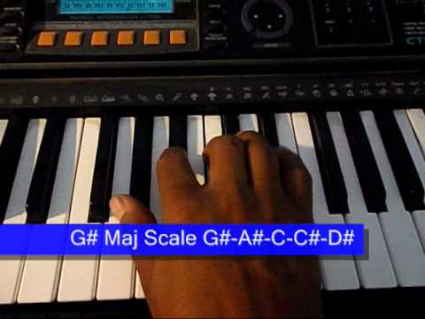Online Piano Lesson 12 G Or Ab Major Scale Chord Youtube