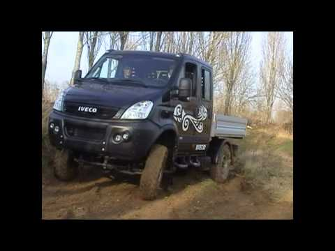iveco daily 4x4 double cabine youtube. Black Bedroom Furniture Sets. Home Design Ideas