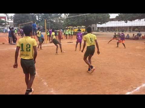 Montfort hr.sec.school,alandur,vollyball team kanchipuram district quarterfinals match