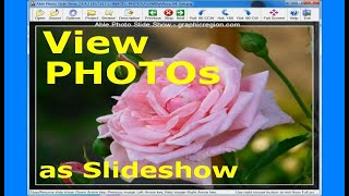 How to view photos as slideshow - Able Photo Slide Show - Flowers
