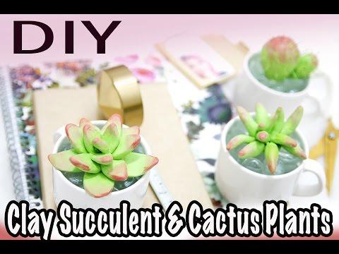DIY: $1 Succulents & Cactus (Polymer Clay)