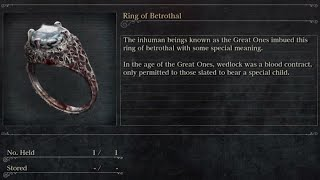 [Bloodborne] How to obtain Ring of Betrothal (Location and how to use it)