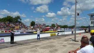 Meltdown Drags 2016 '56 Chevy Sedan Delivery vs '57 Chevy Wagon