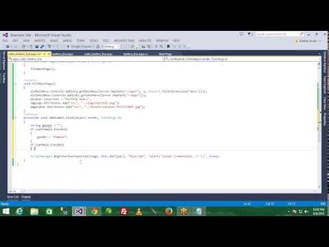 ASP.NET -  Day 5 - Working With Radio Button, Radio Button List
