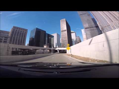Driving To Lower Wacker Drive Downtown Chicago February 2016