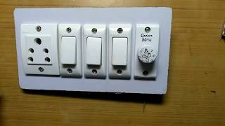 Fan Regulator Connection, 1 Socket 3 Switch 1 Fan Regulator Connection