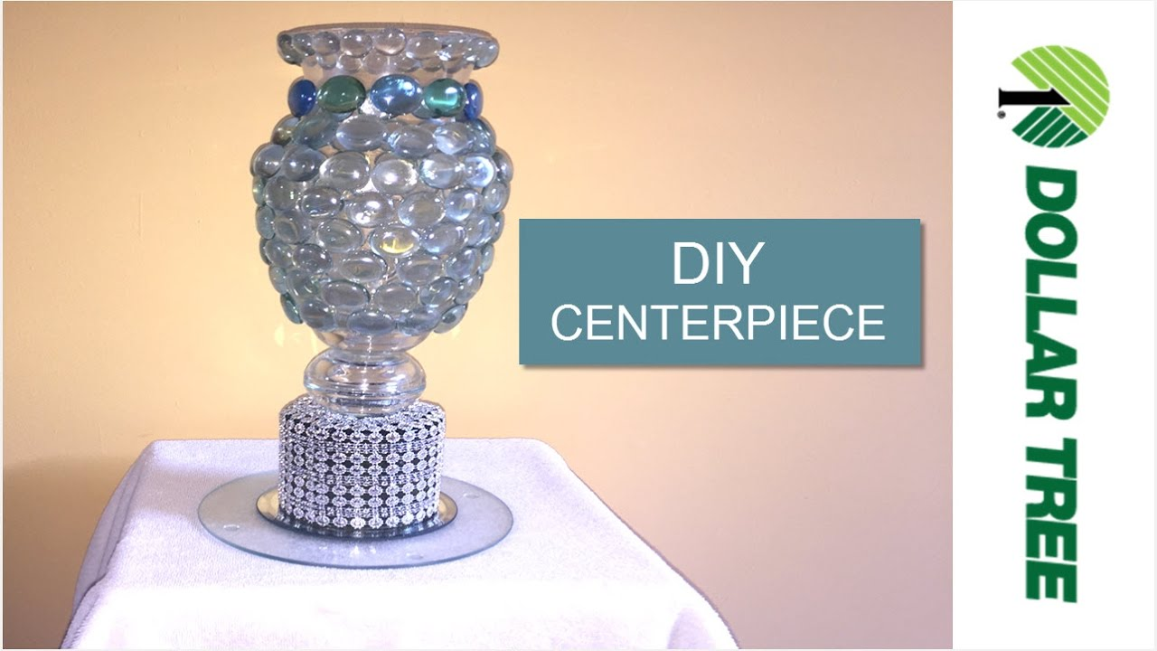 Diy Glam Dollar Tree Diy Bling Vase Centerpiece Diy