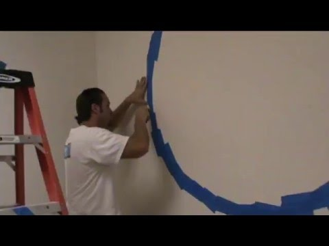 Painting circles and other geometric shapes on walls using the U-Stripe It & Design Tool