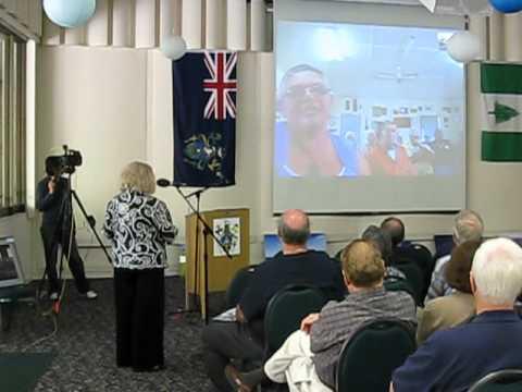 Video chat with Meralda Warren on Pitcairn Island