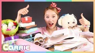 캐리의 친구들로부터 온 선물과 편지 공개 ! CarrieAndToys