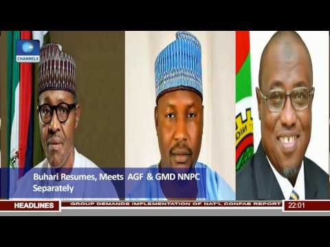 News@10: Buhari Resumes, Holds Separate Meetings With AGF, GMD NNPC 02/05/17 Pt.1