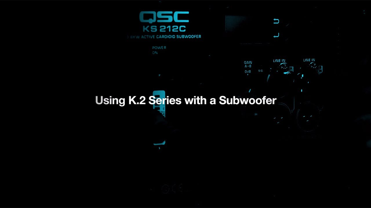 Tech Talk Using K2 Series With A Subwoofer Youtube 4 Ohm Wiring Diagram