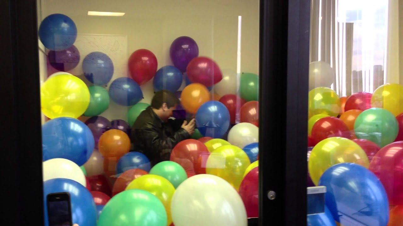 David's bday prank: Office full of Balloons at Aerva - YouTube
