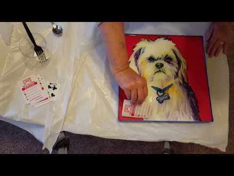 Applying Resin to an oil painting - Oscar
