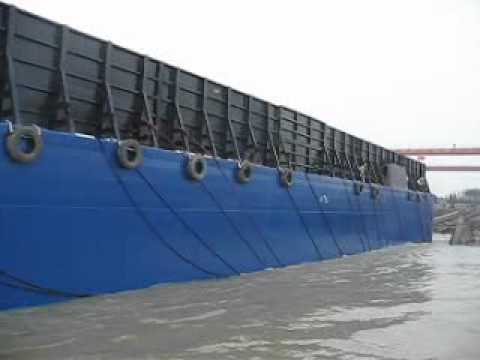 330ft Deck Cargo Barge Launching