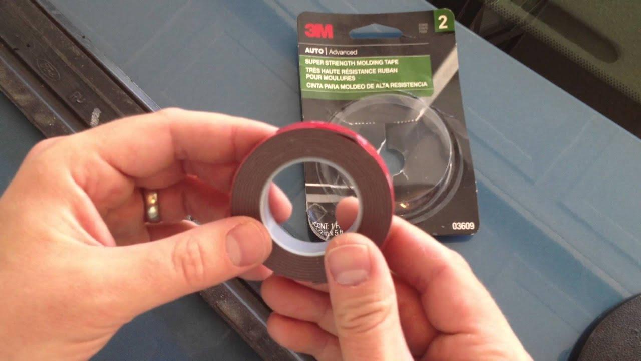 Car Door Trim How To Tips 3m Scotch Mount Molding Tape