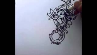 Drawing flower pattern with speed