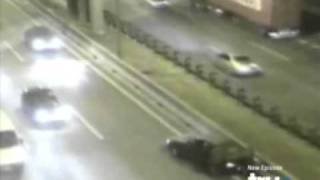Horrific Car Accident - Fight On The Highway Causes Head on Collision
