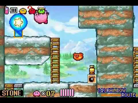 Kirby and the Amazing Mirror (100%) Part 2 - Rainbow Route