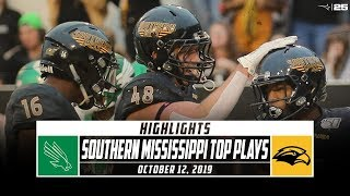 Southern Mississippi Football Top Plays vs. North Texas (2019) | Stadium