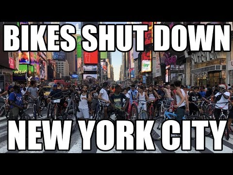 Bikers SHUT DOWN Times Sqaure in *NYC*