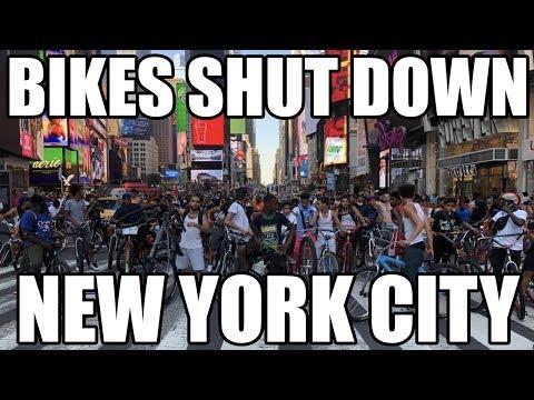 Bikers SHUT DOWN TImes Sqaure in *NYC*
