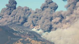 Etna volcano erupts thick ash plumes as new flank eruption begins on Christmas Eve 2018