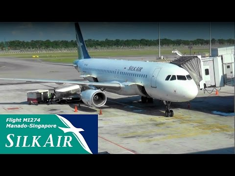 Silkair Airbus A320 Flight MI 274 Manado - Singapore