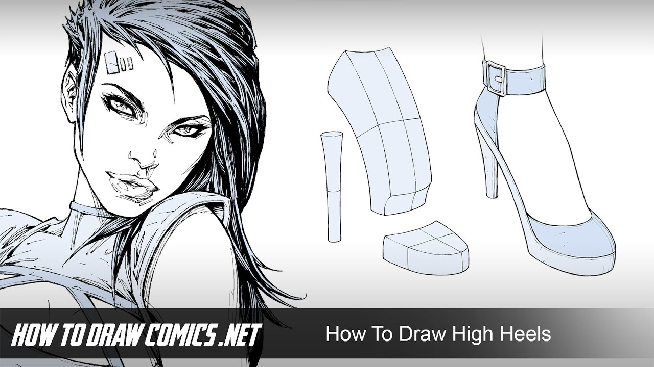 How To Draw Girls In High Heels  YouTube