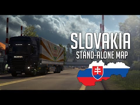 ETS 2 1.27 Slovakia Map v6.0.2 - Does not need any DLC to play-