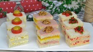 Canapés FÁCILES para NAVIDAD con pan de molde. 3 ideas fáciles y deliciosos