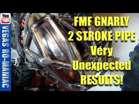 FMF GNARLY 2 STROKE PIPE, Better low GRUNT or a SCAM!? TEST and REVIEW