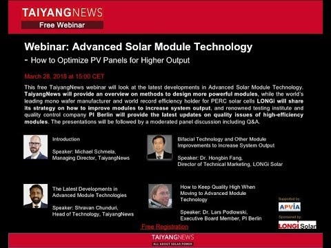 Advanced Solar Module Technology  - How to Optimise PV Panels for Higher Output