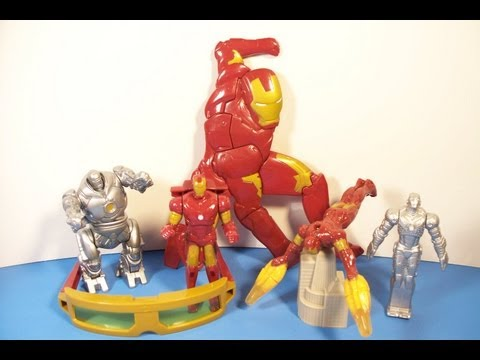 2007 IRON MAN SET OF 6 BURGER KING KID'S MEAL MOVIE TOY'S VIDEO REVIEW