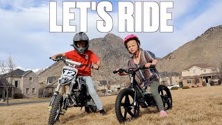 BIG BROTHER TEACHES FOUR-YEAR-OLD LITTLE SISTER HOW TO RIDE A DIRT BIKE | SIS VS BRO MOTOCROSS
