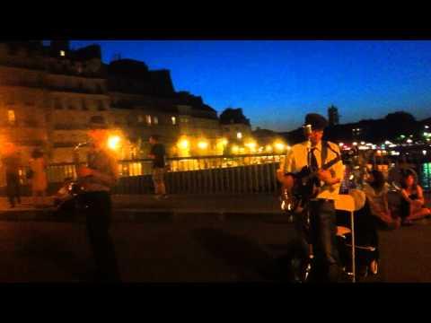 """Jason Kingsley Duo """"Lady is a tramp"""" @ Pont Saint-Louis (Paris)"""
