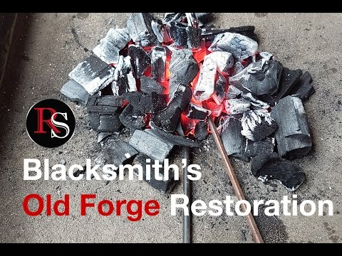 Antique Coal Forge Restoration // DIY