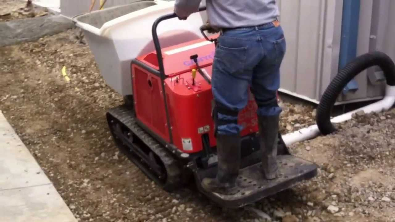 Cany-Com Concrete Buggy on Tracks