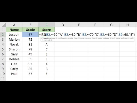 Excel IFS Function - No More Nested IFS