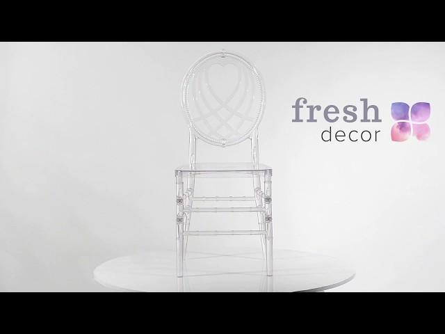 Стул прозрачный Royal Heart для дома и ресторана с круглой прозрачной спинкой очень удобный  стул