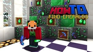HOW TO FIND EMERALDS | Top Tips | Tutorial | Guide | How to Minecraft