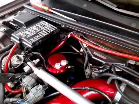 1990 Honda accord oil catch can added CB7 - YouTube