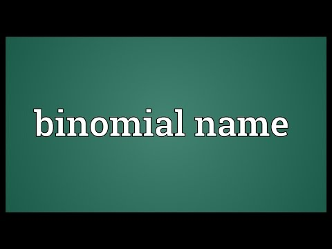 Binomial name Meaning