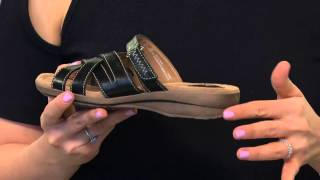 2a51db0e7 Clarks Artisan Multi-strap Leather Slide Sandals - Reid Newport with Carolyn  Gracie