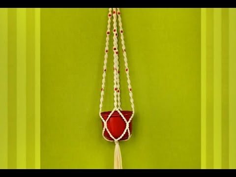 macrame plant hanger blumenampel makramee. Black Bedroom Furniture Sets. Home Design Ideas