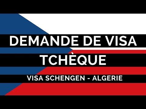 Demande visa Tchèque Algérie, Dossier, formulaire et rendez-vous
